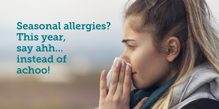Spring allergies are here….get relief!