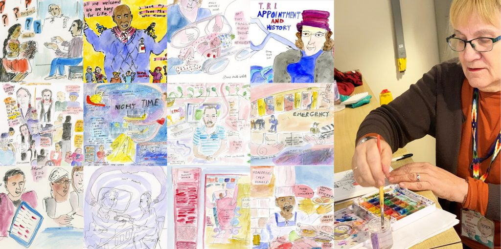 Local artist illustrates a day in the life at Hennepin Healthcare in 160 moments over 24 hours